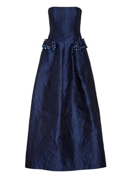 TALBOT RUNHOF Jacquard-Abendkleid COUPLET1 mit Paillettenbesatz, Farbe: DUNKELBLAU (Bild 1)