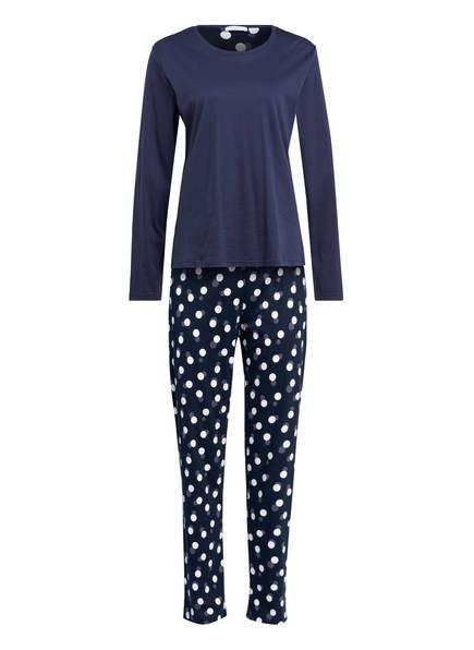 mey 7/8-Schlafanzug Serie HEDY , Farbe: BLAU/ WEISS (Bild 1)