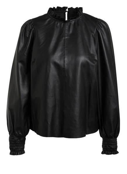 SET Blusenshirt aus Leder , Farbe: SCHWARZ (Bild 1)