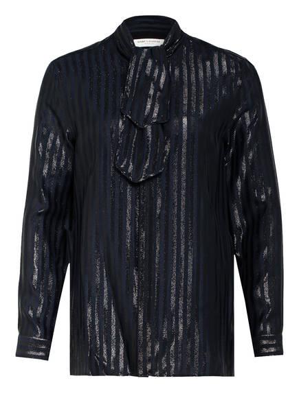 SAINT LAURENT Hemdbluse mit Seide, Farbe: DUNKELBLAU (Bild 1)