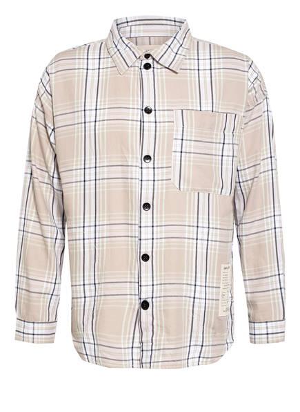 PREACH Oversized-Hemd Comfort Fit, Farbe: HELLBRAUN/ SCHWARZ/ MINT KARIERT (Bild 1)