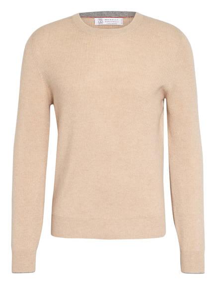 BRUNELLO CUCINELLI Cashmere-Pullover , Farbe: CAMEL MELIERT (Bild 1)