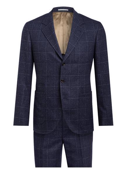 BRUNELLO CUCINELLI Anzug Extra Slim Fit, Farbe: BLAU/ WEISS KARIERT (Bild 1)