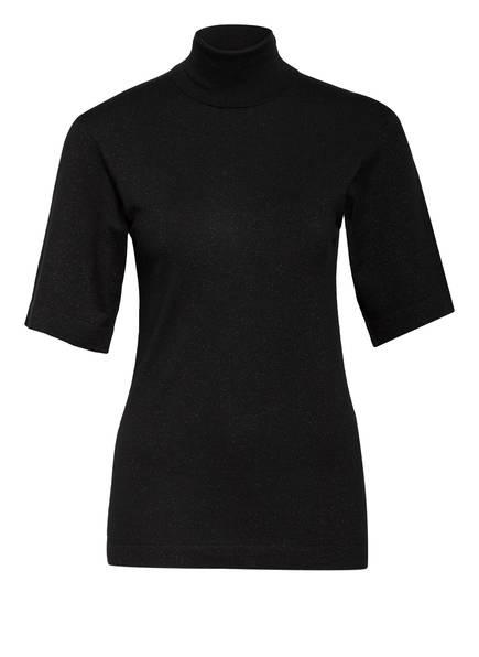 BRUNELLO CUCINELLI Kurzarm-Pullover mit Cashmere , Farbe: SCHWARZ (Bild 1)