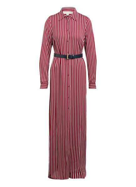 MICHAEL KORS Hemdblusenkleid, Farbe: DUNKELROT/ WEISS/ DUNKELBLAU (Bild 1)