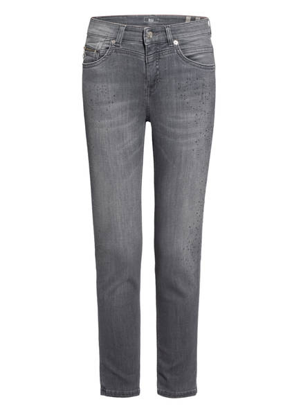 MAC Jeans mit Schmucksteinbesatz , Farbe: D390 GREY LASER WASH (Bild 1)