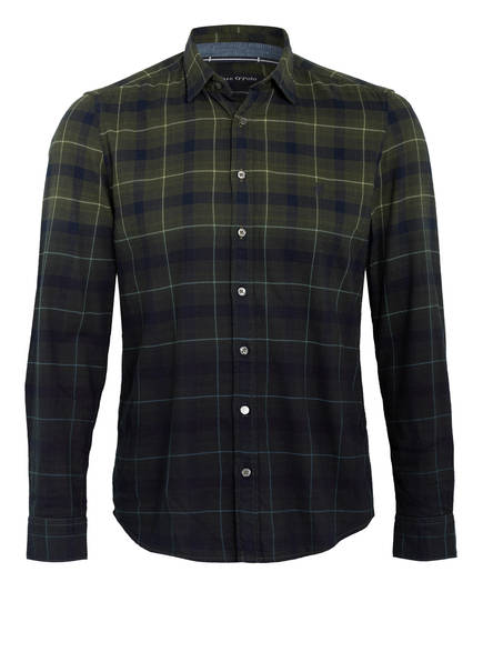 Marc O'Polo Hemd , Farbe: OLIV/ DUNKELBLAU (Bild 1)
