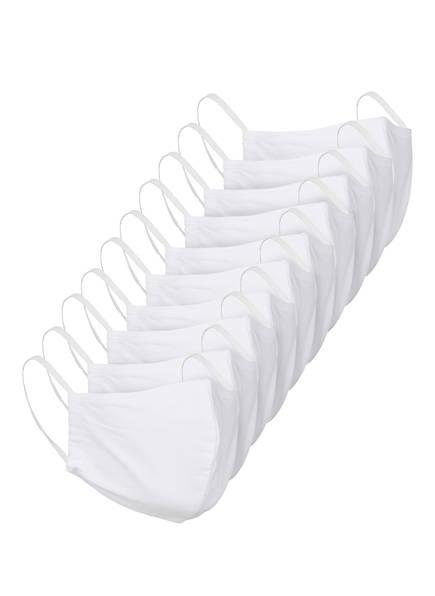seidensticker 10er-Set Mund- und Nasenmasken, Farbe: WEISS (Bild 1)