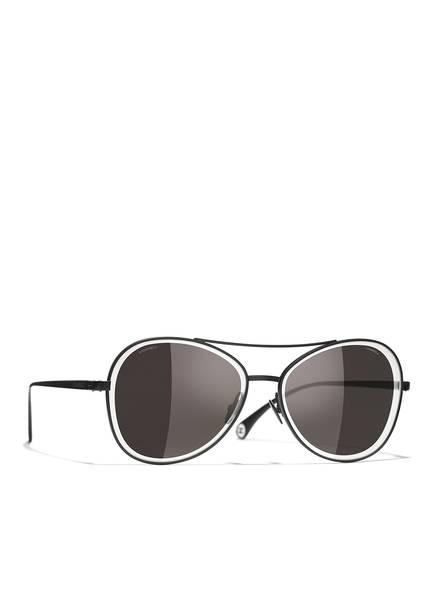CHANEL Runde Sonnenbrille, Farbe: C101EG - SCHWARZ/ GRAU (Bild 1)