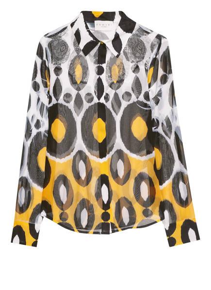 damsel in a dress Hemdbluse ZURI, Farbe: WEISS/ SCHWARZ/ DUNKELGELB (Bild 1)