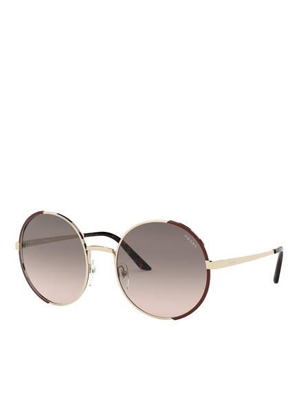 PRADA Sonnenbrille PR 59XS, Farbe: KOF3D0 - GOLD/ BRAUN/ BEIGE VERLAUF (Bild 1)