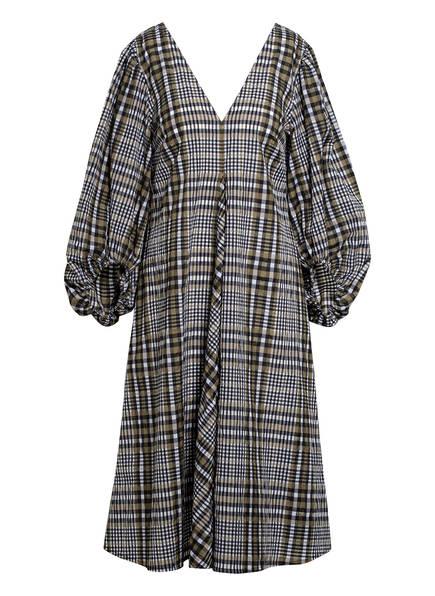 GANNI Kleid , Farbe: KHAKI/ SCHWARZ/ WEISS (Bild 1)