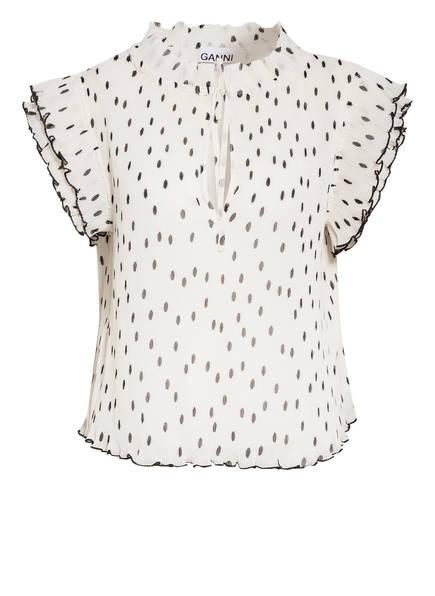 GANNI Blusenshirt, Farbe: GRAU/ CREME (Bild 1)