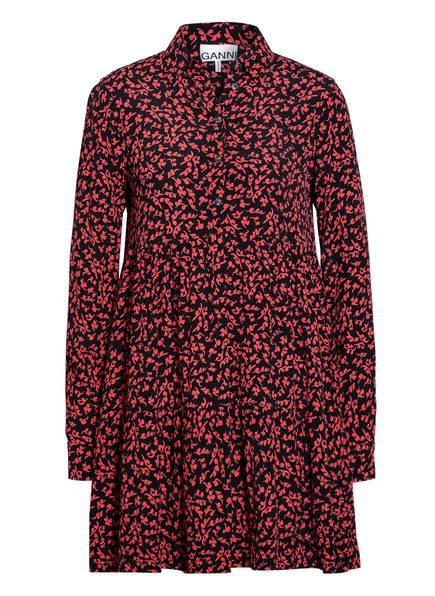 GANNI Kleid , Farbe: SCHWARZ/ ROT (Bild 1)