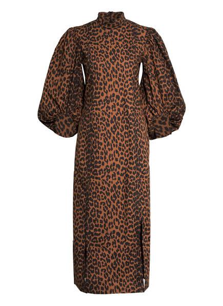 GANNI Kleid mit 3/4-Arm , Farbe: COGNAC/ SCHWARZ (Bild 1)