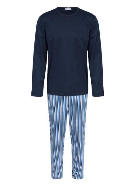 mey Schlafanzug , Farbe: DUNKELBLAU/ HELLBLAU/ WEISS (Bild 1)
