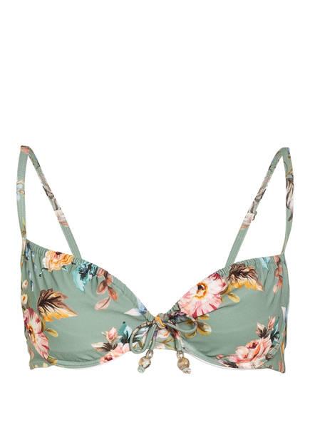 watercult Bügel-Bikini-Top BOHO BLOSSOM, Farbe: HELLGRÜN/ HELLROSA (Bild 1)