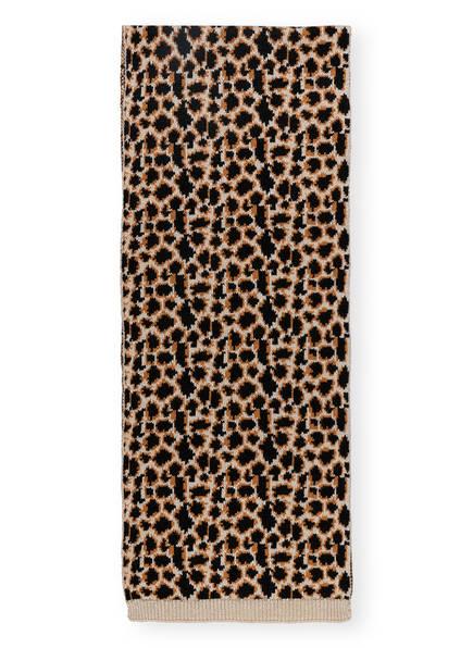 BECKSÖNDERGAARD Schal mit Glitzergarn, Farbe: SCHWARZ/ BRAUN/ CREME (Bild 1)