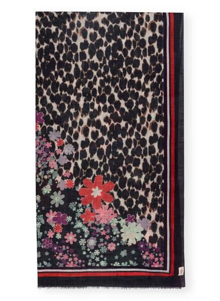 BECKSÖNDERGAARD Schal mit Seide, Farbe: DUNKELBLAU/ MINT/ LILA (Bild 1)