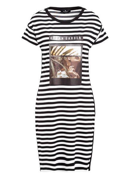 monari Jersey-Kleid mit Galonstreifen, Farbe: SCHWARZ/ WEISS (Bild 1)