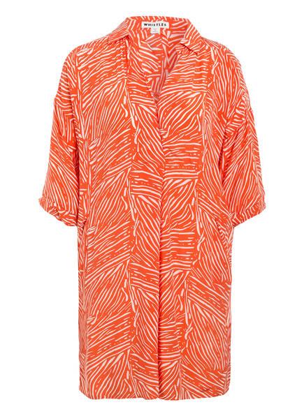 WHISTLES Kleid LOLA, Farbe: ORANGE/ WEISS (Bild 1)