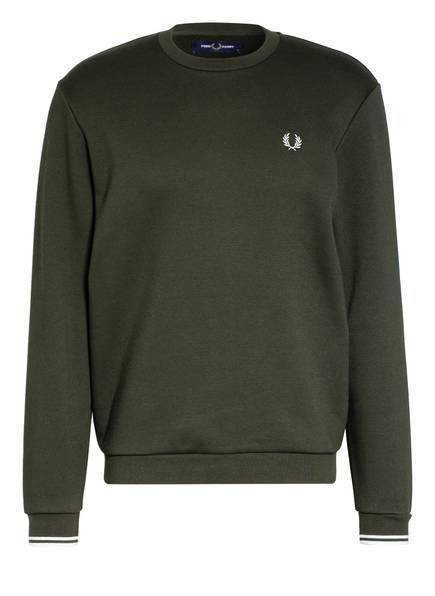 FRED PERRY Sweatshirt, Farbe: DUNKELGRÜN (Bild 1)