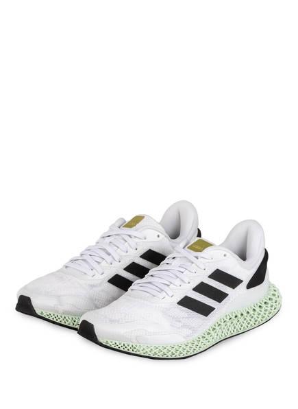 adidas Originals Laufschuhe 4D RUN 1.0, Farbe: WEISS/ SCHWARZ (Bild 1)