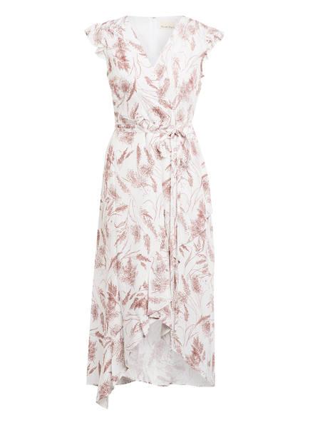 Phase Eight Kleid NICOLE in Wickeloptik , Farbe: WEISS/ BRAUN (Bild 1)