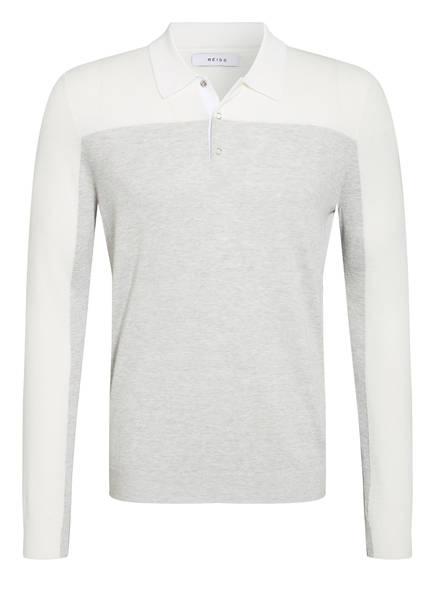 REISS Stick-Poloshirt RUFFANO, Farbe: WEISS/ GRAU MELIERT (Bild 1)