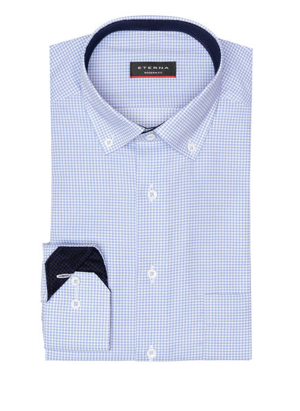 ETERNA Hemd Modern Fit, Farbe: HELLBLAU/ WEISS KARIERT (Bild 1)