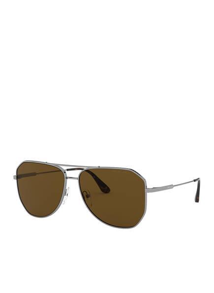 PRADA Sonnenbrille PR 63XS, Farbe: 5AV01D - SILBER/ BRAUN  (Bild 1)
