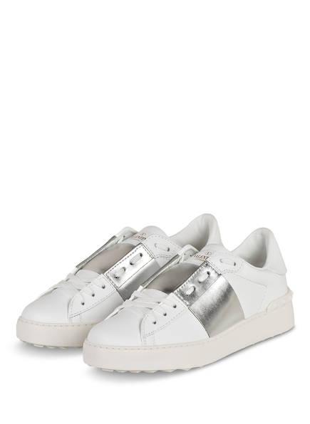 VALENTINO GARAVANI Sneaker OPEN, Farbe: 857 BIANCO/ARGENTO/BIANCO (Bild 1)