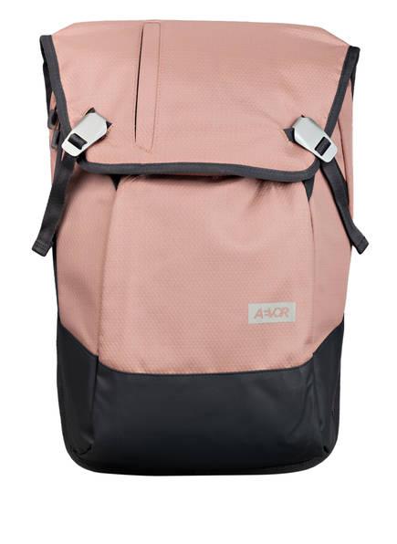 AEVOR Rucksack DAYPACK PROOF 18 l (erweiterbar auf 28 l) mit Laptop-Fach, Farbe: ROSÉ/ GRAU (Bild 1)