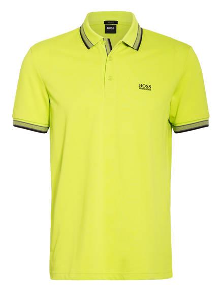 BOSS Piqué-Poloshirt PADDY Regular Fit, Farbe: NEONGRÜN/ DUNKELGRAU/ SCHWARZ (Bild 1)