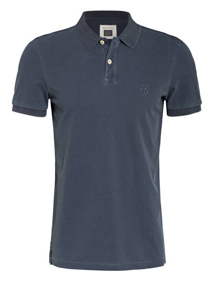 Marc O'Polo Piqué-Poloshirt Regular Fit, Farbe: DUNKELBLAU (Bild 1)
