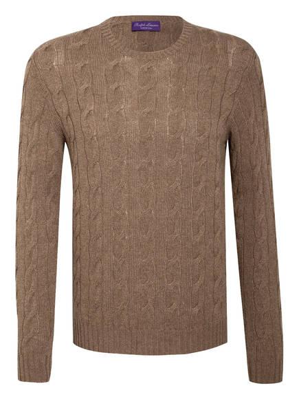 RALPH LAUREN PURPLE LABEL Cashmere-Pullover, Farbe: TAUPE (Bild 1)