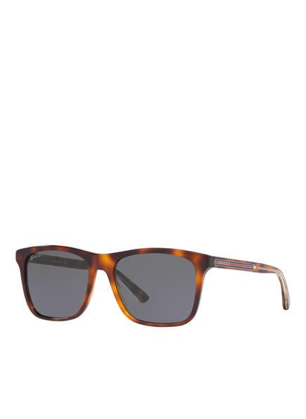 GUCCI Sonnenbrille GC001188, Farbe: 4402B1 - HAVANA/ GRAU (Bild 1)