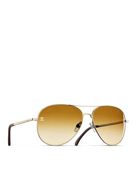 CHANEL Pilotensonnenbrille, Farbe: C395S9 - SILBER/ BRAUN POLARISIERT (Bild 1)