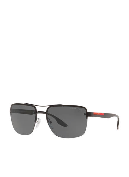 PRADA LINEA ROSSA Sonnenbrille PS 60US, Farbe: 1AB5Z1- SCHWARZ/ SCHWARZ POLARISIERT (Bild 1)