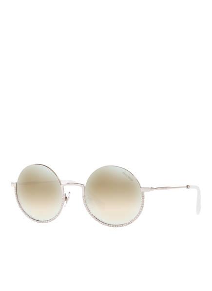 MIU MIU Sonnenbrille MU 69US, Farbe: 1BC168 - SILBER/ BRAUN VERSPIEGELT (Bild 1)