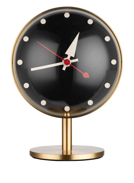 vitra Tischuhr NIGHT CLOCK, Farbe: GOLD/ SCHWARZ/ WEISS (Bild 1)