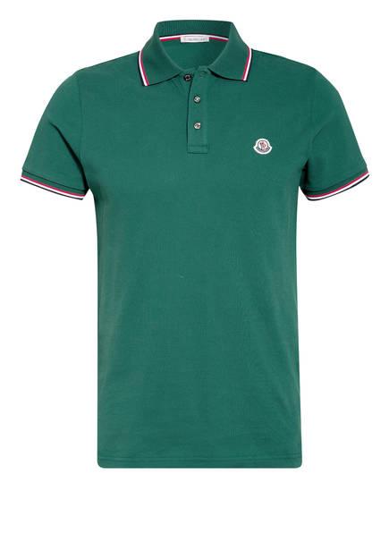MONCLER Piqué-Poloshirt, Farbe: DUNKELGRÜN (Bild 1)