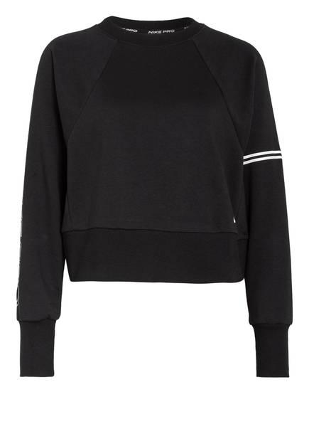 Nike Sweatshirt PRO DRI-FIT GET FIT, Farbe: SCHWARZ/ WEISS (Bild 1)