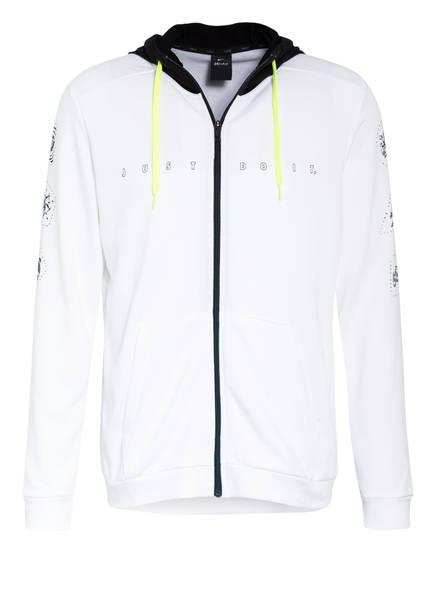 Nike Sweatjacke DRI-FIT, Farbe: WEISS/ SCHWARZ (Bild 1)
