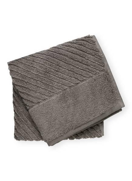 en VOGUE Handtuch DIAGONAL AIR, Farbe: ANTHRAZIT (Bild 1)