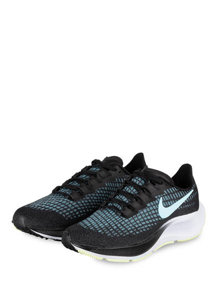 Nike Laufschuhe AIR ZOOM PEGASUS 37, Farbe: SCHWARZ/ HELLBLAU (Bild 1)