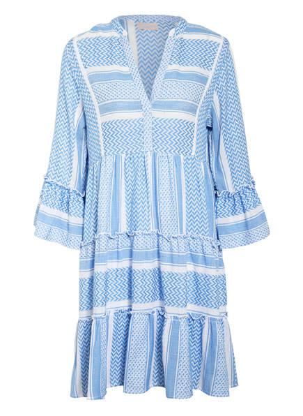 Mrs & HUGS Kleid mit 3/4-Arm und Volantbesatz, Farbe: blue white AOP blue white AOP (Bild 1)