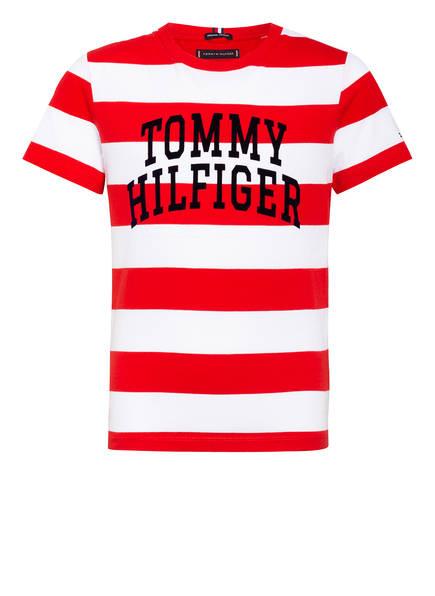 TOMMY HILFIGER T-Shirt, Farbe: WEISS/ ROT GESTREIFT (Bild 1)