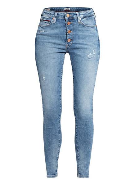 TOMMY JEANS Skinny Jeans SYLVIA, Farbe: 1BK MARLIE MID BLUE STRETCH DESTRUCTED (Bild 1)