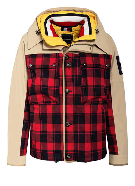 TOMMY HILFIGER 2-in-1-Jacke, Farbe: BEIGE/ DUNKELROT/ GELB (Bild 1)